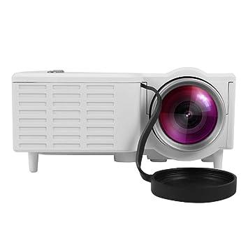 Mugast UC28 Mini Proyector Portátil HD LED 1080P Vídeo Proyector Cine en Casa,con 100,000 Horas de Uso, Soporta Más de 15 Formatos de Video y ...