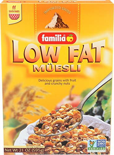 Familia Low-Fat Muesli Cereal, 21-Ounce Box (Pack of 6)