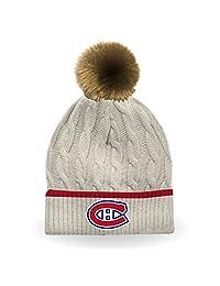 NHL Women's Montreal Canadiens Furry Pom Pom Hat