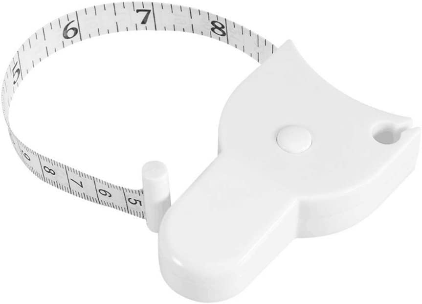 HEALIFTY Accurate Body Tape Measure Waist Retractable Ruler Measuring Weight Loss Body Measurement White 60-Inch//150cm
