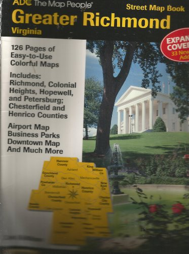 Greater Richmond  Virginia Street Map Book  Includes Richmond  Colonial Heights  Airports