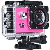 Boyiya Mini Waterproof Sports Recorder Car DV Action Camera Camcorder 1080P HD (Red)