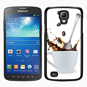 Samsung Galaxy S4 Active i9295 Screen Case ,Splash of coffee Interesting Black Samsung Galaxy S4 Active i9295 Cover Fashion And Unique Designed Phone Case
