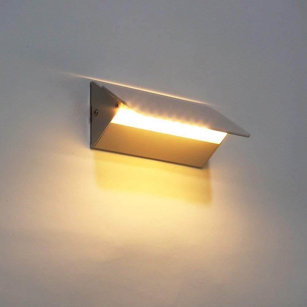 Unimall 5W Wandlampe led Wandleuchte innen minimalistisch Modern Design Verstellbar Badlampe Wand f/ür Whonzimmer Schlafzimmer Badezimmer Treppenhaus Balkon Wei/ß