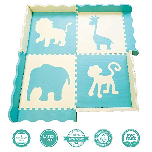 Baby Play Mat w/Fence - Extra Thick (0.80