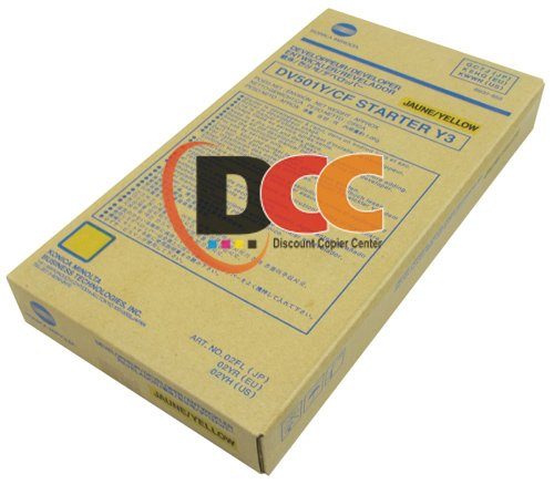Genuine Konica Minolta Yellow Developer DV501Y for the Minolta CF5001 8050 by Minolta