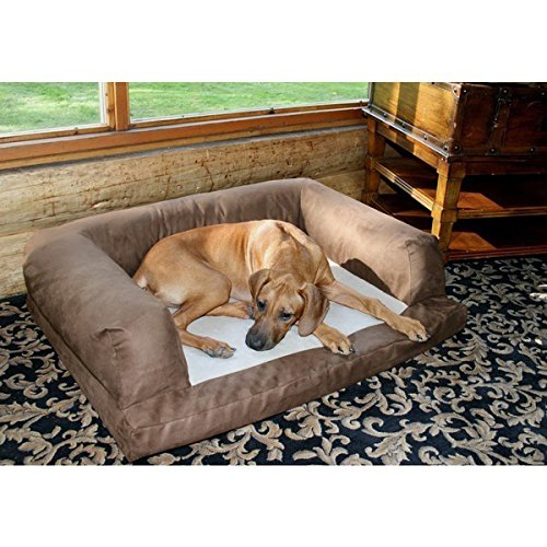 Great Dane Large Breed XXL Premium Orthopedic Dog Couch and Bed Includes Our Exclusive eBook (Chocolate) by HV