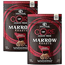 Wellness Core® Marrow Roasts Natural Grain Free Dog Treats (Beef (2 Pack), 8-Ounce Bag)