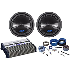 "2 Alpine Type-S SWS-12D4 12"" 1500w Car Subwoofers Subs+Hifonics Amplifier+Wires"
