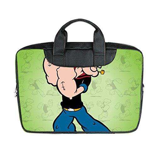 [JIUDUIDODO Custom Special Halloween Gifts Popeye Nylon Waterproof Bag Computer Bag Handbag for Laptop 15