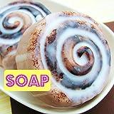 Giant Cinnamon Bun Handmade Soap that looks like food