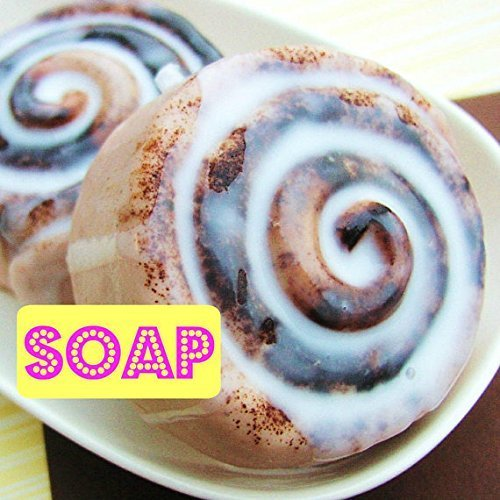 Giant Cinnamon Bun Handmade Soap that looks like food by Sunbasil Soap