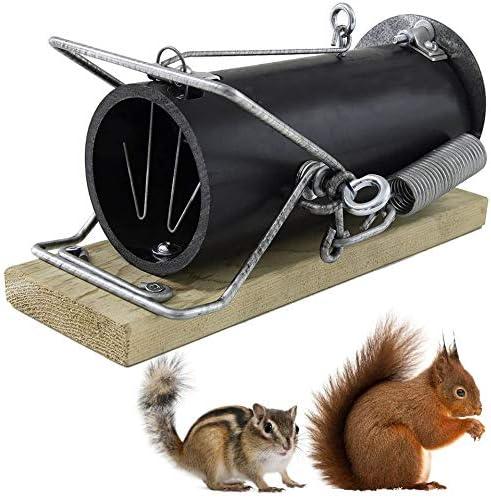 OUELL 3-10 Trampa Tubo para Ratas, Alimañas y Roedores Grandes - Cepo para Animales Ecológico, Reutilizable y Potente que Mata al Instante sin Crueldad