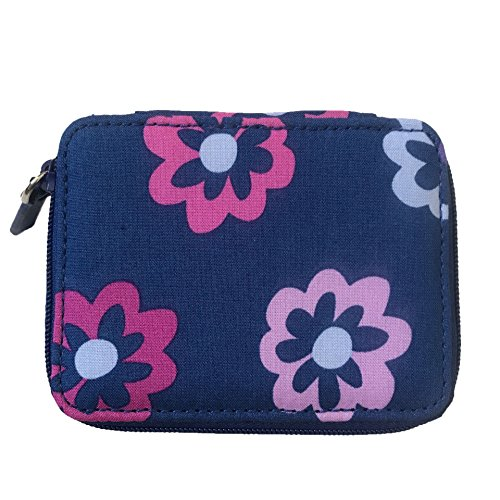 Flowers Vera Bradley - Vera Bradley Travel Pill Case in Ellie Flowers Solid Purple Lining