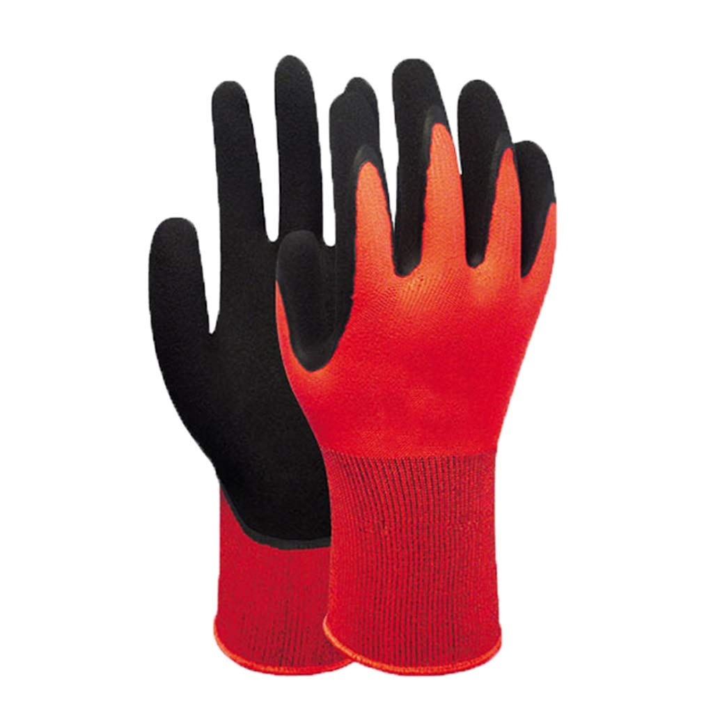Lxrzls Gauntlets for Industrial, Chemical-Resistant Nitrile GlovesglovesLatex Coated Work (Size : S)