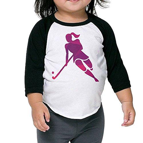 Liberia Sheet (Hitdy Ice Hockey Girl Player 3/4 Sleeves Raglan Toddler Children Kids Custom Round Collar T Shirts Tee Unisex)