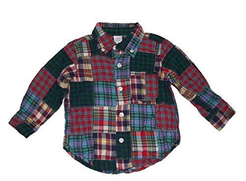Gap Baby Boys Patchwork Plaid Long Sleeve Shirt ( 12 - 18 Months) - Baby Gap Patchwork