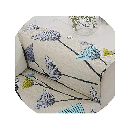 100% Cotton Sofa Cover Towel Yellow Floral Dandelion Printed Slipcover Corner Couch Cover Fabric Sofa Mats for Living Room 1PCS,1PCS1,Pillowcase 45x45cm]()