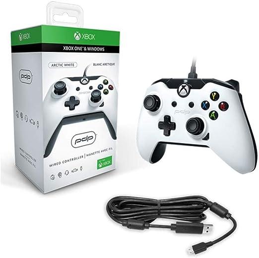 WTZFHF Mando con Cable para Xbox Uno PDP Controlador DX por Cable, regulador del Juego, apretones Antideslizantes, Audio Jack de 3.5mm - Blanco: Amazon.es: Jardín