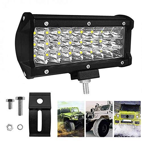TTK Auto 144W 12V-24V LED Work Light, 6000KExcavator Light Off-Road Lights, 2700 LM Engineering Light (2 Pcs) ()