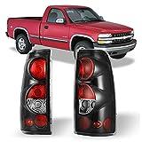 ZMAUTOPARTS Chevy Silverado/ GMC Sierra Pickup Tail Brake Lights Rear Lamp Black