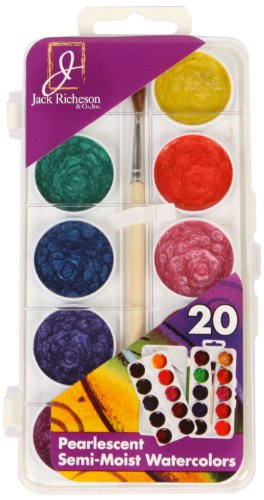 (Jack Richeson Student Semi Moist Pearl Watercolor, Set of 20)