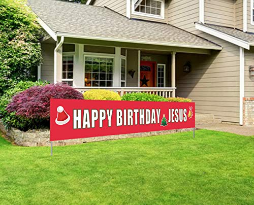Happy Birthday Jesus Outdoor Lights