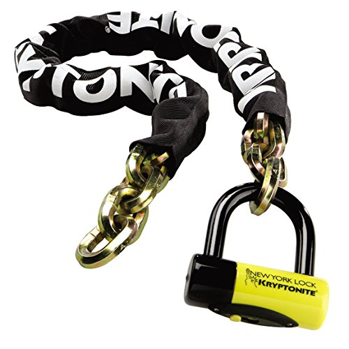 Kryptonite New York Fahgettaboudit 1410 Chain and New York Disc Bike Lock, 14mm x 39'