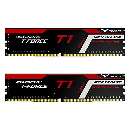 TEAMGROUP T-Force T1 DDR4 16GB Kit (2 x 8GB) 2666MHz (PC4 21300) CL18 Desktop Gaming Memory Module Ram - TTD416G2666C18HDC01