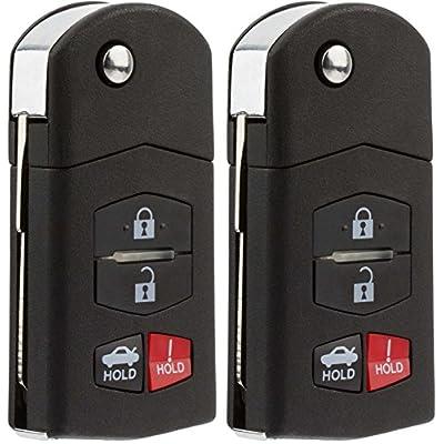 KeylessOption Keyless Entry Car Remote Control Key Fob Replacement for BGBX1T478SKE125-01 (Pack of 2): Automotive