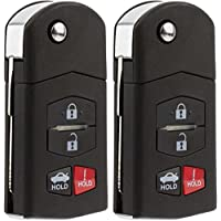 KeylessOption Keyless Entry Car Remote Control Uncut Key Fob Replacement for KPU41788 (Pack of 2)