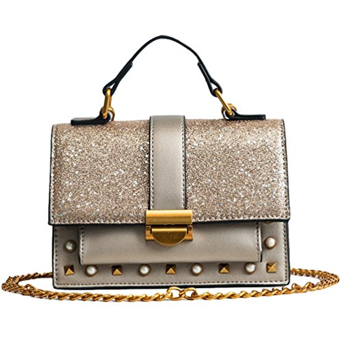 Bag Cross Clutch Shoulder Bag Women Body Small Handbag Chain Evening CHENYANG Mini Classic Gold Gold UI4wnqa