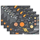 Cooper girl Universe Solar System Placemat Heat Resistant Washable Mat 12x18 Inch for Kitchen Dining Table