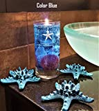 Reusable Gel Wax Candle with Sea Shells & Star Fish Details