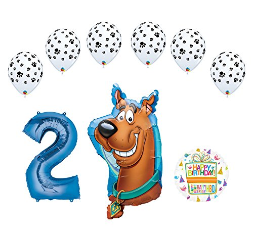 (Mayflower Products Scooby Doo 2nd Birthday Party Supplies Balloon Bouquet Decorations)