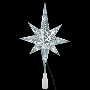 Home Accents Holiday 11 in. 10-Light Silver Mercury Christmas Tree Topper