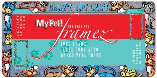 Chroma 42502 My Pet - 'Crazy Cat Lady' License Plate Frame