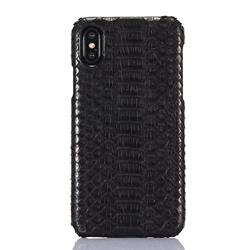 Luxury Case Hand Made from Genuine Python Leather Back Cover Cell Phone Protection Case For iPhone X (Python Edition - Black) by I-idea (Image #5)
