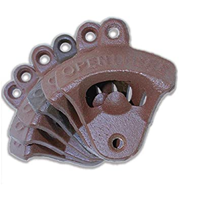 Wall Mount Bottle Opener in Cast Iron | Set of 6 with Mounting Screws Included | Indie Craft Supply Company
