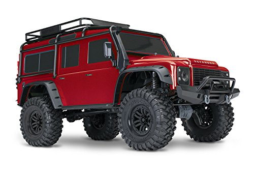Traxxas 1/10 Scale TRX-4 Scale and Trail Crawler with 2.4GHz TQi Radio, Red