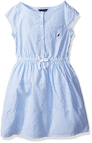 nautica-toddler-girls-short-sleeve-stripe-oxford-dress-with-button-placket-light-blue-4t