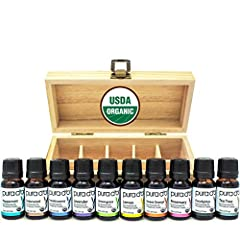 Sense of smell is the oldest and strongest sense in the body. It can help us detect harm from far away or in some cases, it helps us find peace and balance between our body and mind. PURA D'OR Perfect 10 Essential Oil Kit is made of 100% pure...