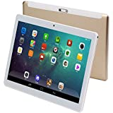 KUBI 10 inch Andriod Tablet, Andriod 7.0 System WiFi Tablet IPS 1280x800 Touch Screen, 4GB RAM 64GB ROM, Bluetooth 5.0+8.0MP Dual Camera-Gold