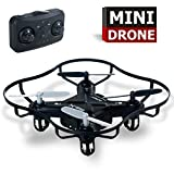 Luxon Mini A804F RC Quadcopter Drone With Led Light,4CH 2.4GHz 6-Axis Gyro RTF(Black)