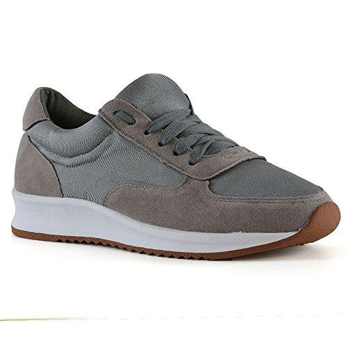 Grigio Donna Sneaker Nuova Palestra Fitness Glam Old School Sportiva Walking Essex 76TcgnqRWx