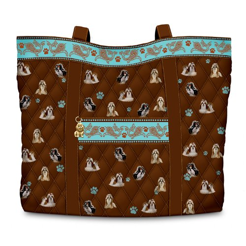 Shih Tzu Tote (Faithful Friend Quilted Tote Bag and Cosmetic Case: Shih Tzu by The Bradford Exchange)
