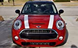 The Pixel Hut gs00176 White with Black Border Hood Stripes for MINI Cooper and S Hard Top F56 (2014 - Present)