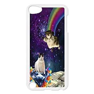 For Ipod Touch 5 Smart Cat Art Pattern Protective Back Case-Style-11