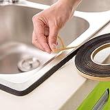 Quaanti 2M Kitchen Self Sealing Adhesive Tape Multi Function Anti Dust Waterproof Sealing Strip Tape, Caulk Strip Kitchen (Black)