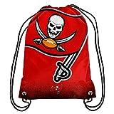 NFL Football Team Logo Drawstring Backpack Bag - Pick Team (Tampa Bay Buccaneers)